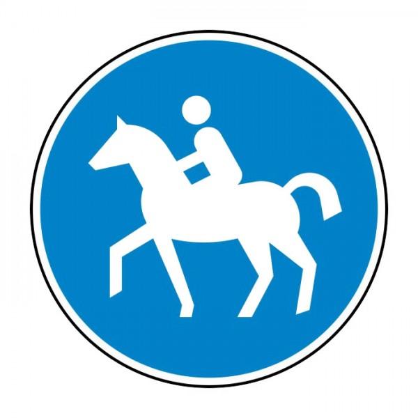 Verkehrszeichen - Sonderweg Reiter