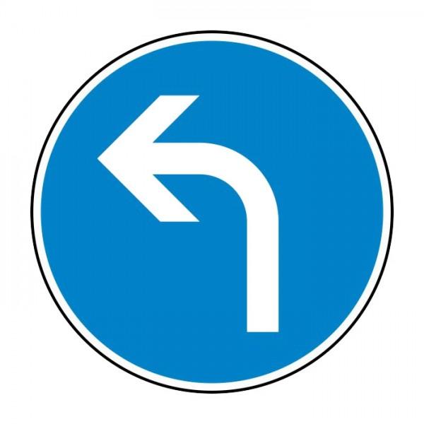 Verkehrszeichen - Vorgeschriebene Fahrtrichtung links Nr. 209-10