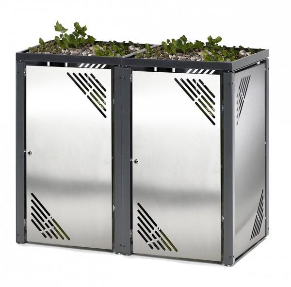 Müllbehälterschrank Vario II - Edelstahl