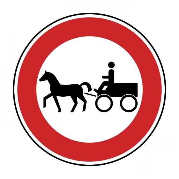 Verkehrszeichen - Gespannfuhrwerke Nr. 255-52