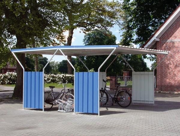 Fahrradüberdachung Astris - zweiseitig