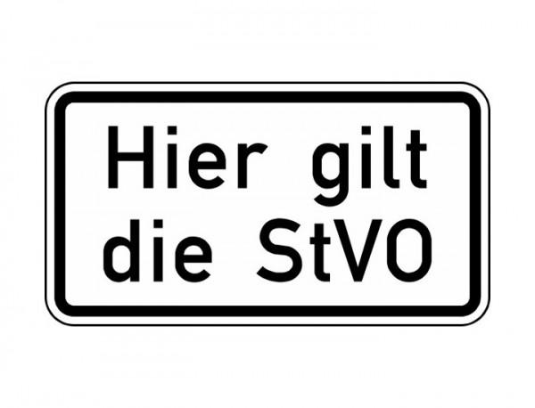Verkehrszeichen - Hier gilt die StVO Nr. 2803