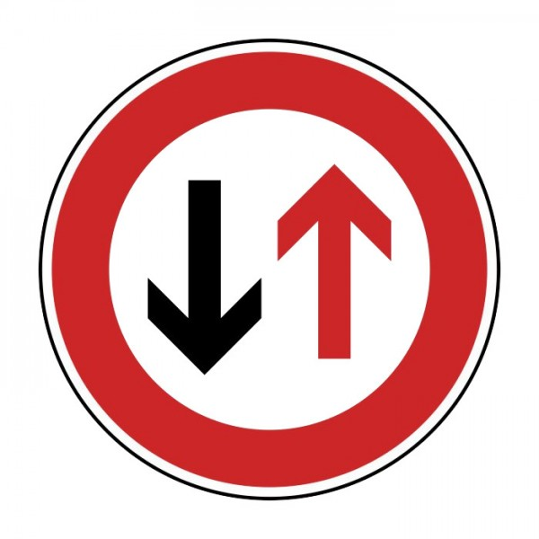 Verkehrszeichen - Vorrang des Gegenverkehrs Nr. 208