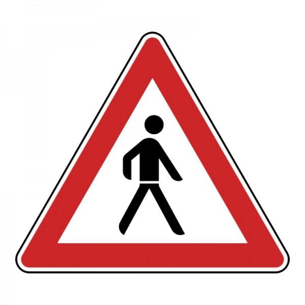 Verkehrszeichen - Fußgänger (Aufstellung links) Nr. 133-20