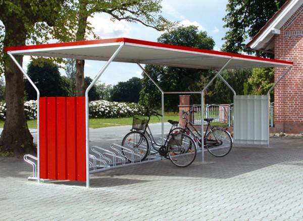 Fahrradüberdachung Astris mit Anbaufeld