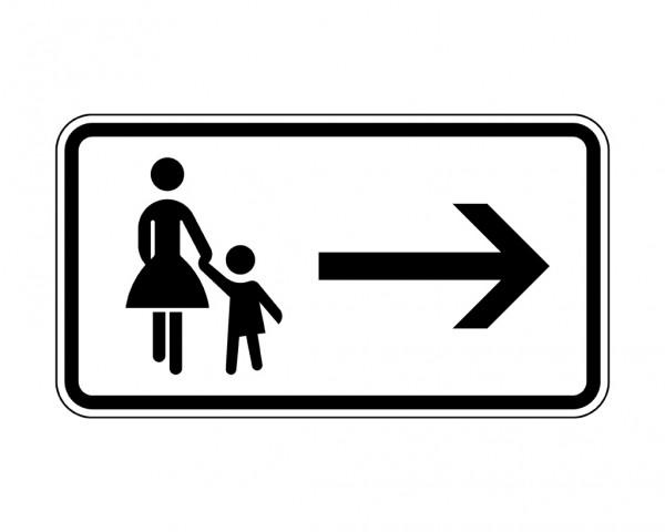 Verkehrszeichen - Fußgänger Gehweg rechts gegenüber benutzen Nr. 1000-22