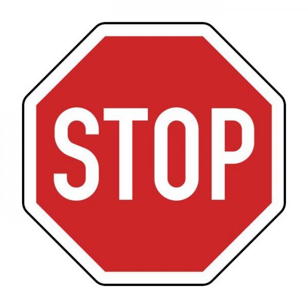 Verkehrszeichen - Halt! Vorfahrt gewähren! Nr. 206