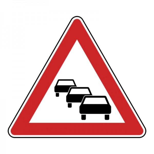 Verkehrszeichen - Stau Nr. 124