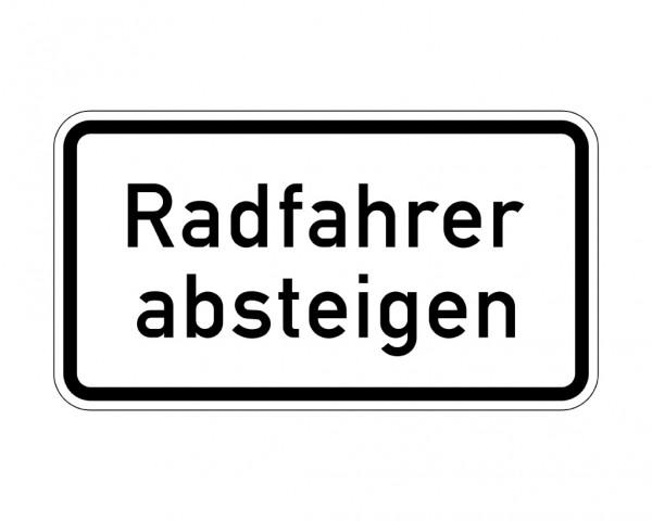 Verkehrszeichen - Radfahrer absteigen Nr. 1012-32