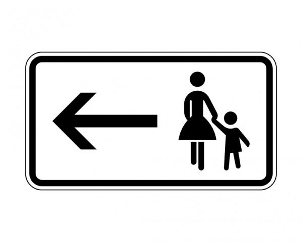 Verkehrszeichen - Fußgänger Gehweg links gegenüber benutzen Nr. 1000-12