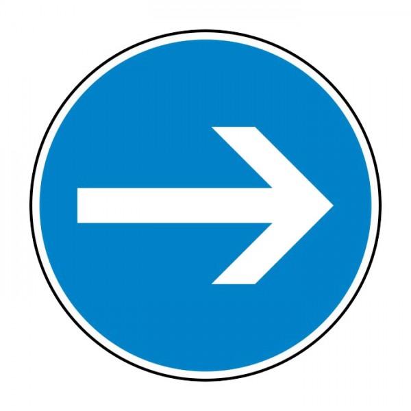 Verkehrszeichen - Vorgeschriebene Fahrtrichtung hier rechts Nr. 211-20