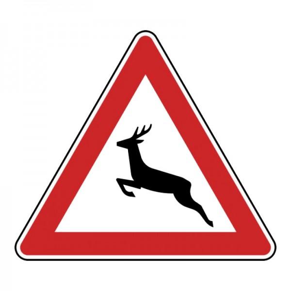 Verkehrszeichen - Wildwechsel (Aufstellung rechts) Nr. 142-10