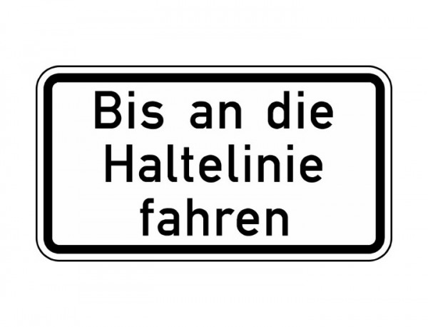 Verkehrszeichen - Bis an die Haltelinie fahren Nr. 2802