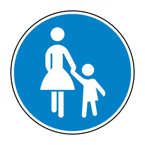 Verkehrszeichen - Sonderweg Fußgänger Nr. 239