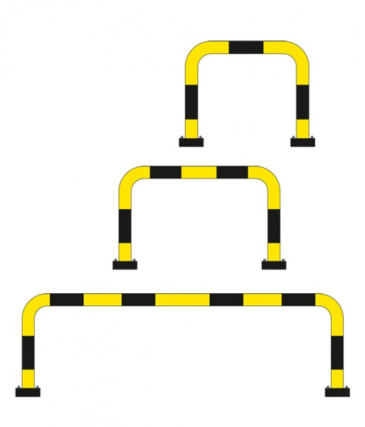 Rammschutzbügel anfahrbar - für den Außeneinsatz