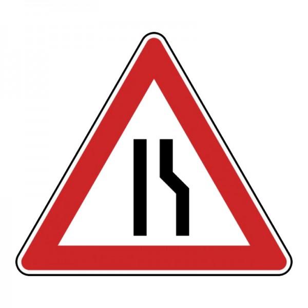 Verkehrszeichen - Einseitig verengte Fahrbahn, Verengung rechts Nr. 121-10