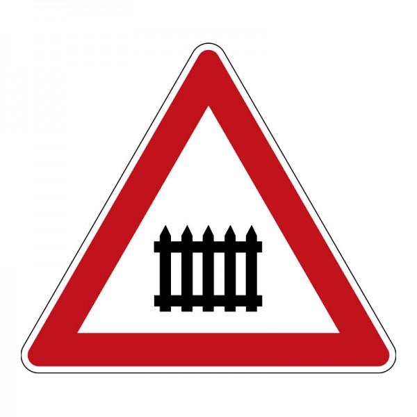 Verkehrszeichen - Bahnübergang mit Schranken Nr. 150