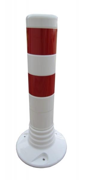 Flexibler Kunststoffpfosten Ø 80 mm - weiß