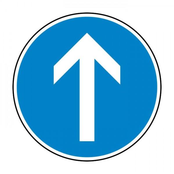 Verkehrszeichen - Vorgeschriebene Fahrtrichtung geradeaus Nr. 209-30