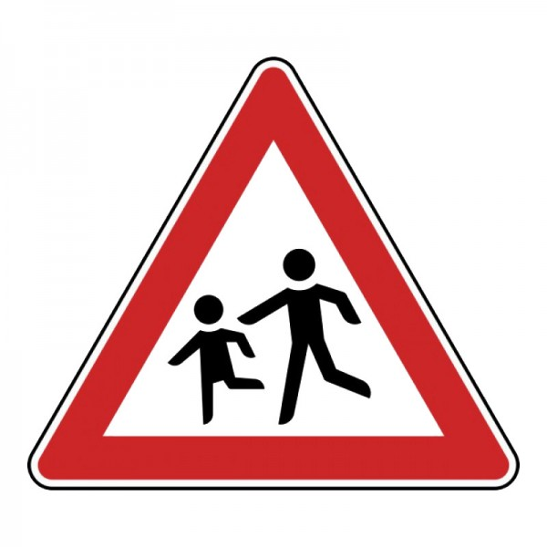 Verkehrszeichen - Kinder (Aufstellung rechts) Nr. 136-10