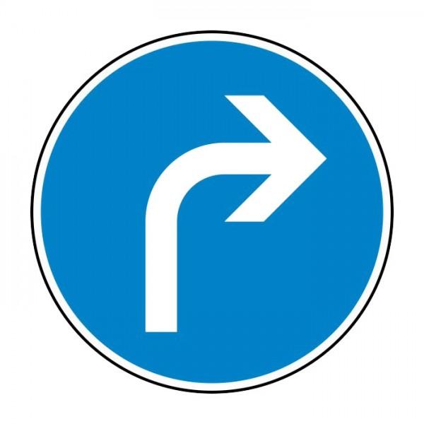 Verkehrszeichen - Vorgeschriebene Fahrtrichtung rechts Nr. 209-20