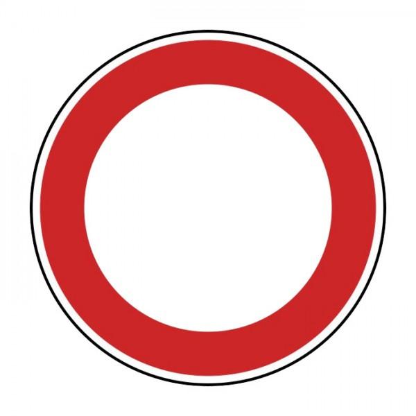 Verkehrszeichen - Verbot für Fahrzeuge aller Art