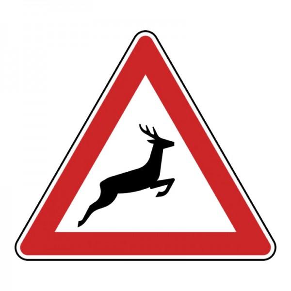 Verkehrszeichen - Wildwechsel (Aufstellung links) Nr. 142-20