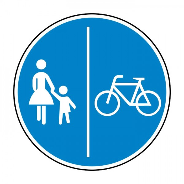 Verkehrszeichen - Getrennter Fuß- und Radweg Nr. 241-31