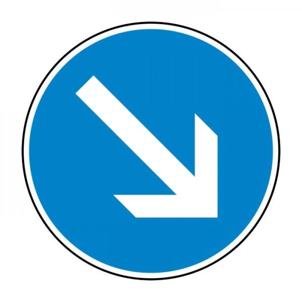 Verkehrszeichen - Vorgeschriebene Vorbeifahrt rechts Nr. 222-20