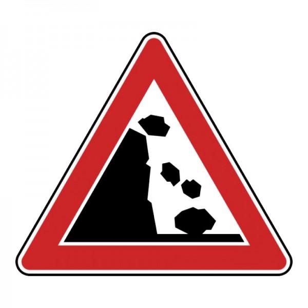 Verkehrszeichen - Steinschlag (links) Nr. 115-20