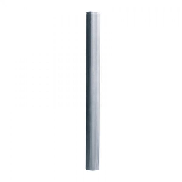Edelstahlpoller Ø 76 mm - mit Ziernut