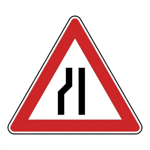 Verkehrszeichen - Einseitig verengte Fahrbahn, Verengung links Nr. 121-20