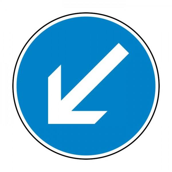 Verkehrszeichen - Vorgeschriebene Vorbeifahrt links Nr. 222-10