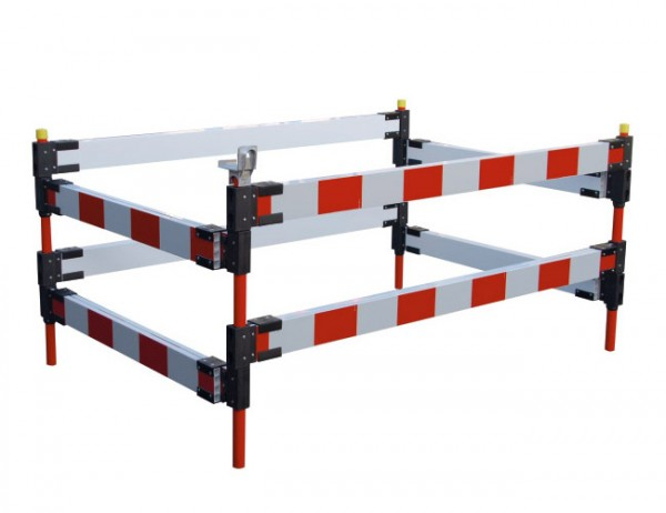 Schachtabsperrung Typ B - ausziehbar bis 1,5 x 1,5 m