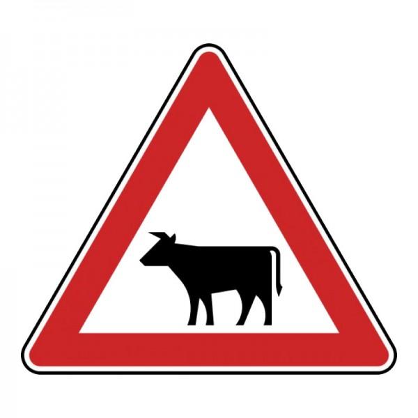 Verkehrszeichen - Viehtrieb (Aufstellung rechts) Nr. 140-10