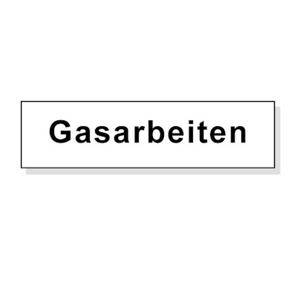 Zusatztext Gasarbeiten - nicht reflektierend
