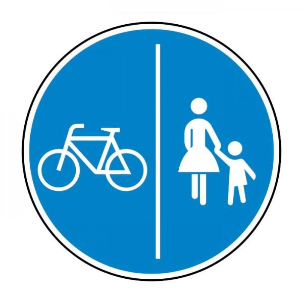 Verkehrszeichen - Getrennter Rad- und Fußweg Nr. 241-30