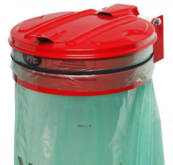 Müllsackhalter mit Gummiband (Metalldeckel)