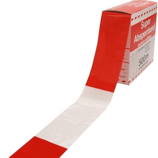 Absperrband rot-weiß - VE 10 Stk.