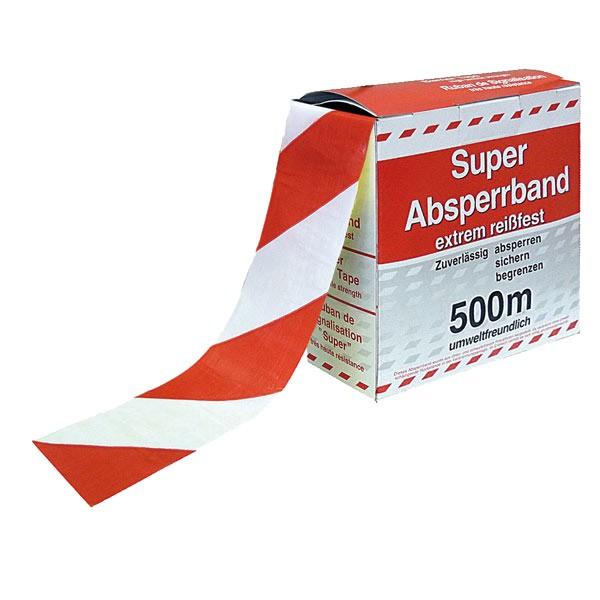 Absperrband rot/weiß - VE 10 Stk.