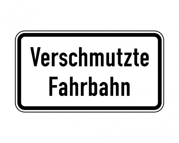 Verkehrszeichen - Verschmutzte Fahrbahn Nr. 1006-35