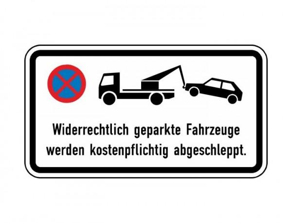 Verkehrszeichen - Widerrechtlich geparkte Fahrzeuge werden Nr. 2428