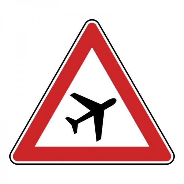 Verkehrszeichen - Flugbetrieb (Aufstellung links) Nr. 144-20
