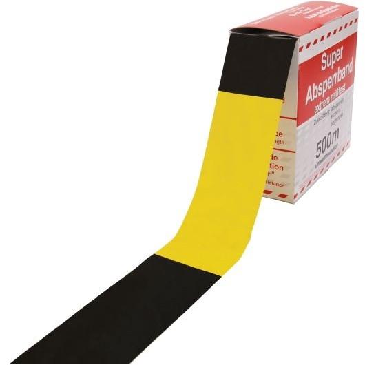 Absperrband gelb-schwarz - VE 10 Stk.