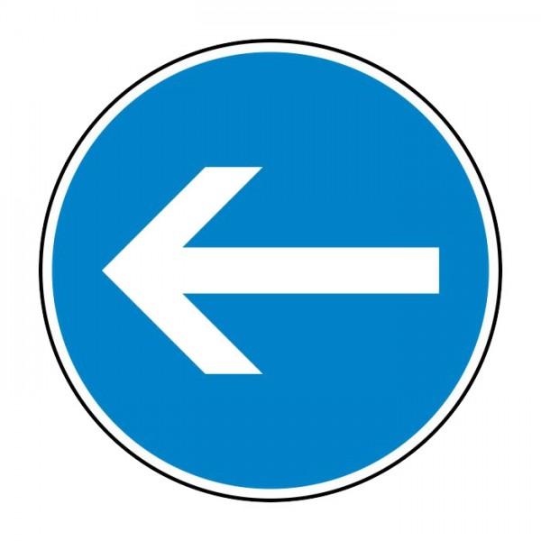 Verkehrszeichen - Vorgeschriebene Fahrtrichtung hier links Nr. 211-10