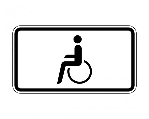 Verkehrszeichen - Nur Schwerbehinderte mit außergewöhnlicher Gehbehinderung Nr. 1044-10