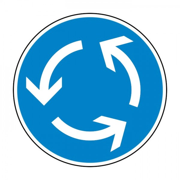 Verkehrszeichen - Kreisverkehr Nr. 215