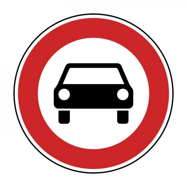 Verkehrszeichen - Verbot für Kraftwagen Nr. 251