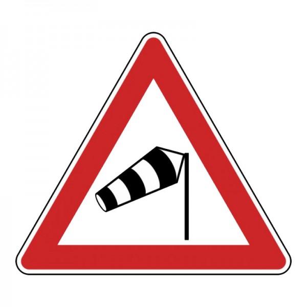 Verkehrszeichen - Seitenwind von rechts Nr. 117-10