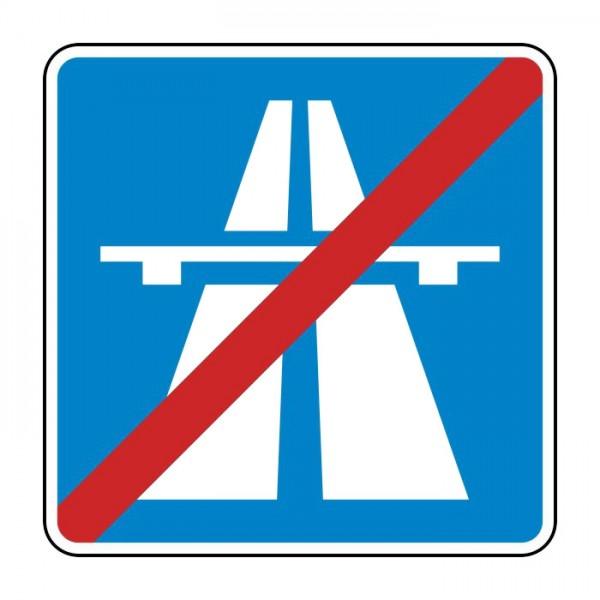 Verkehrszeichen - Ende der Autobahn Nr. 334